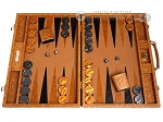 picture of Hector Saxe Arizona Leather Backgammon Set - Cognac (1 of 12)