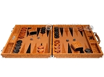 picture of Hector Saxe Arizona Leather Backgammon Set - Cognac (4 of 12)