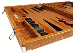 picture of Hector Saxe Arizona Leather Backgammon Set - Cognac (5 of 12)