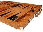 picture of Hector Saxe Arizona Leather Backgammon Set - Cognac (6 of 12)