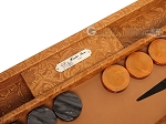 picture of Hector Saxe Arizona Leather Backgammon Set - Cognac (9 of 12)