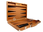 Hector Saxe Arizona Leather Backgammon Set - Cognac