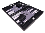 picture of Hector Saxe Carbon Linen/Felt Travel Backgammon Set - Black (3 of 12)