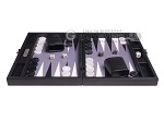 picture of Hector Saxe Carbon Linen/Felt Travel Backgammon Set - Black (4 of 12)