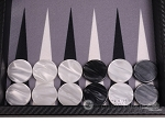 picture of Hector Saxe Carbon Linen/Felt Travel Backgammon Set - Black (9 of 12)