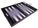 picture of Hector Saxe Carbon Linen/Felt Travel Backgammon Set - Black (10 of 12)