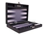picture of Hector Saxe Carbon Linen/Felt Travel Backgammon Set - Black (11 of 12)