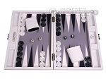 picture of Hector Saxe Carbon Linen/Felt Travel Backgammon Set - White (1 of 12)