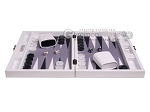 picture of Hector Saxe Carbon Linen/Felt Travel Backgammon Set - White (4 of 12)