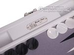 picture of Hector Saxe Carbon Linen/Felt Travel Backgammon Set - White (8 of 12)