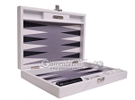 picture of Hector Saxe Carbon Linen/Felt Travel Backgammon Set - White (11 of 12)