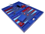 picture of Hector Saxe Leatherette Travel Backgammon Set - Pacific Blue (3 of 12)