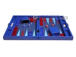 picture of Hector Saxe Leatherette Travel Backgammon Set - Pacific Blue (4 of 12)