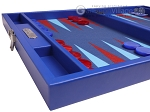 picture of Hector Saxe Leatherette Travel Backgammon Set - Pacific Blue (5 of 12)
