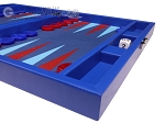 picture of Hector Saxe Leatherette Travel Backgammon Set - Pacific Blue (6 of 12)