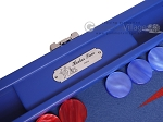 picture of Hector Saxe Leatherette Travel Backgammon Set - Pacific Blue (8 of 12)