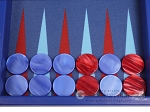 picture of Hector Saxe Leatherette Travel Backgammon Set - Pacific Blue (9 of 12)