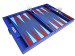 picture of Hector Saxe Leatherette Travel Backgammon Set - Pacific Blue (10 of 12)