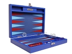 picture of Hector Saxe Leatherette Travel Backgammon Set - Pacific Blue (11 of 12)
