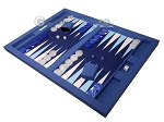 picture of Hector Saxe Faux Snake Tabletop Backgammon Set - Blue (3 of 11)