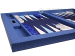 picture of Hector Saxe Faux Snake Tabletop Backgammon Set - Blue (5 of 11)