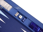 Hector Saxe Faux Leatherette Tabletop Backgammon Set - Blue