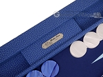 picture of Hector Saxe Faux Snake Tabletop Backgammon Set - Blue (9 of 11)