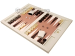 picture of Hector Saxe Croco Leatherette Tabletop Backgammon Set - Ivory (3 of 11)