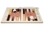 picture of Hector Saxe Croco Leatherette Tabletop Backgammon Set - Ivory (4 of 11)