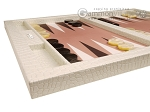 picture of Hector Saxe Croco Leatherette Tabletop Backgammon Set - Ivory (5 of 11)