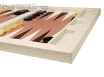 picture of Hector Saxe Croco Leatherette Tabletop Backgammon Set - Ivory (6 of 11)