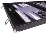picture of Hector Saxe Carbon Linen/Felt Backgammon Set - Black (5 of 12)