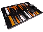 picture of Hector Saxe Croco Leather Backgammon Set - Black - Oriflamme II (2 of 12)