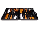 picture of Hector Saxe Croco Leather Backgammon Set - Black - Oriflamme II (4 of 12)