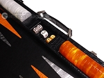 picture of Hector Saxe Croco Leather Backgammon Set - Black - Oriflamme II (7 of 12)