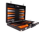 picture of Hector Saxe Croco Leather Backgammon Set - Black - Oriflamme II (10 of 12)