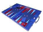 picture of Hector Saxe Leatherette Backgammon Set - Pacific Blue (3 of 12)