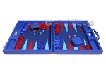 picture of Hector Saxe Leatherette Backgammon Set - Pacific Blue (4 of 12)