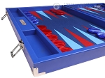 picture of Hector Saxe Leatherette Backgammon Set - Pacific Blue (5 of 12)