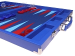 picture of Hector Saxe Leatherette Backgammon Set - Pacific Blue (6 of 12)