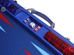 picture of Hector Saxe Leatherette Backgammon Set - Pacific Blue (7 of 12)