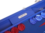 picture of Hector Saxe Leatherette Backgammon Set - Pacific Blue (8 of 12)