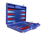 picture of Hector Saxe Leatherette Backgammon Set - Pacific Blue (10 of 12)