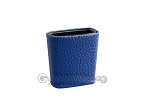 Leatherette Backgammon Dice Cup - Oval - Blue