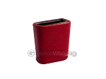 Leatherette Backgammon Dice Cup - Oval - Red - Item: 2759