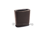 Leather Backgammon Dice Cup - Oval - Chocolate