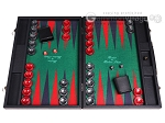 Hector Saxe Faux Leather Backgammon Set - Green Field - Item: 2506