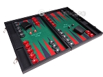 picture of Hector Saxe Faux Leather Backgammon Set - Green Field (2 of 12)