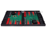 picture of Hector Saxe Faux Leather Backgammon Set - Green Field (4 of 12)