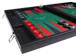 picture of Hector Saxe Faux Leather Backgammon Set - Green Field (5 of 12)